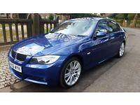 RARE 2006 BMW 330D M SPORT LE MANS BLUE IDRIVE SAT FULL SERVICE HISTORY 275 BHP REMAP 2 KEYS