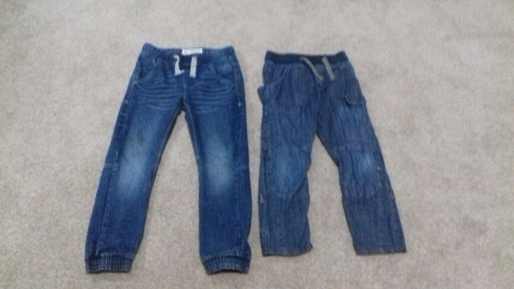 2 pairs boys jeans from next age 8 & 9 elasticated waist