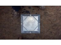 Sealed 30cm x 30cm galvanised drain covers
