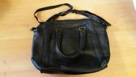 Ladies black hand bag