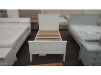 Julian Bowen Maine Surf White Single Bed (BED ONLY) Can Deliver