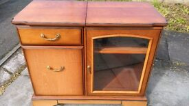 Cherry Wood Hi-Fi Unit, Cabinet, Storage Table, By John E. Coyle Solid Wood Shabby Chic Project?