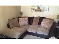 Right hand scatter back corner sofa