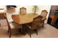 Quality Large Dining Table plus 4 chairs