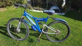 Mountain Bike With Disc Brakes + Front Suspension for only £45.00