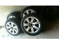"Original 17""audi alloy wheels"