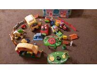 Toy bundle, peppa pig, happyland etc