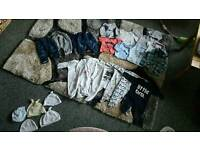 33 items of 0-3 months clothes