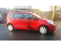 2012 NISSAN NOTE 1.5 DCi VISIA BRIGHT RED,£20 TAX,HUGE MPG,2 OWNER,CLEAN CAR,GREAT VALUE