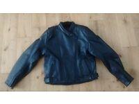 Ladies leather motorcycle jacket size 16