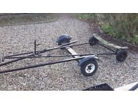 Boat trailer/trolley suitable for enterprise or similar. Collect only. Extra bracket can be removed.