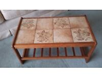 Retro vintage 60's/70's tiled coffee side table.