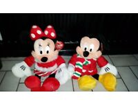 Disney store mickey and minnie mouse teddies