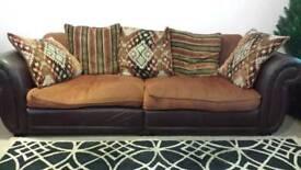 Half leather vintage style sofa