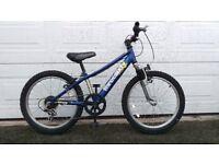 """kids mountain bike, 20"""" wheels, front shocks, 18 gears"""