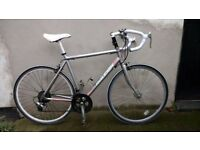 "Ladies Raleigh road bike 22"" frame light racer in silver new tyres and bar tape"