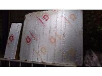 Celotex 100mm insulation surplus to requirements 1000x1200 and 270x800