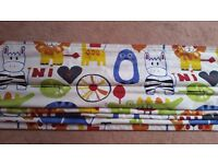 Roman blind for nursery or childs room
