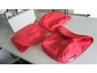 CORAL RED BUGABOO DONKEY 2 HOODS & 1 APRON – RRP£150.00