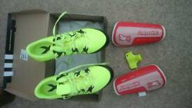 Kids Adidas stud football boots size 4