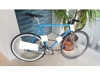 Bike found - blue frame, fixie and racing handlebar