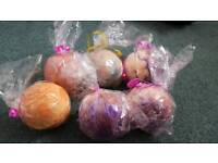 GLITTER BATHBOMBS x8 - Bargain