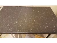 Wanted at least 1.4 m black slate effect non glossy worktop preferably from wickes cash waiting