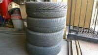 Four Michelin tires 215-65/17