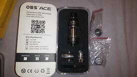 OBS Ace V2 Ceramic Coil Tank Genuine Not Crius RTA ECig Vape