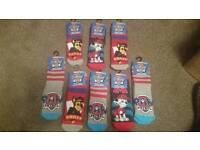 Kids Paw Patrol bed socks (brand new)