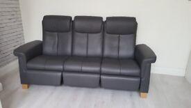 Stressless Grey 3 seater highback sofa