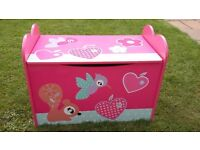Girls toybox gentle close lid from dunelm mill