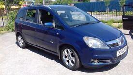 Vauxhall Zafira 2005 CDi diesel low mileage 11 months mot