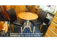 Pine table and chair set