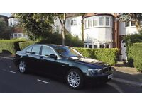 BMW 745i, somewhat ageing but still majestic luxury with low milage, excellent condition