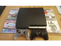 Price reduced PS3 500gb console with games and 2 controllers