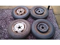 1990 Fiat Ducato/Talbot Express/Citroen C25/ Peugeot J5 14'' steel wheels with tyres.