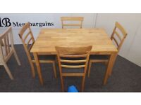 Ex Display Julian Bowen Cleo Dining Table & 4 Chairs **Can Deliver**