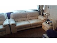 Cream sofas for sale £40 each now or £80 for both. Buyer to collect from Covingham. Need quick sale