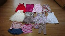 Girls baby clothes 3-6 months. 12 items