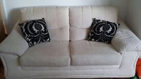 Matching 2-seater sofa bed and 3-seater sofa