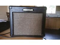 Kustom guitar amp with effects