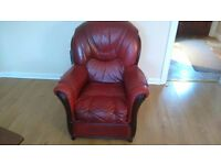Italian leather three piece suite