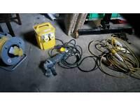 Angle grinder 110v transformer & extension
