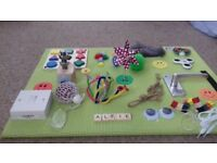 Tactile/Sensory Board for people with Autism, Alzheimers, Special Needs & Dementia