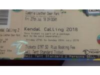 Kendall calling tickets for belltent for 2 in deer park boutique campsite