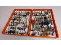 Fishing flies comes in a fox box in great condition