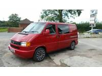 VW T4 transporter campervan day van with quality cupboards & rock n roll bed