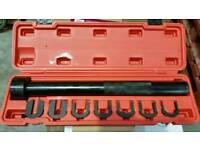 Inner tie rod tool set with case