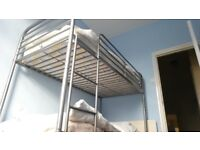TWO TIER BUNK BED WITH LADDER